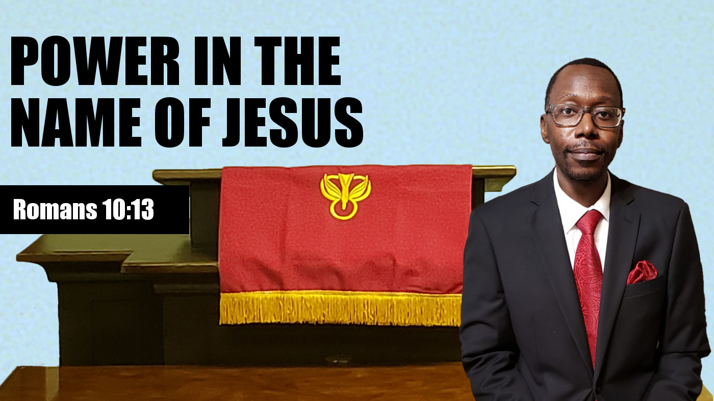 In the name of Jesus banner
