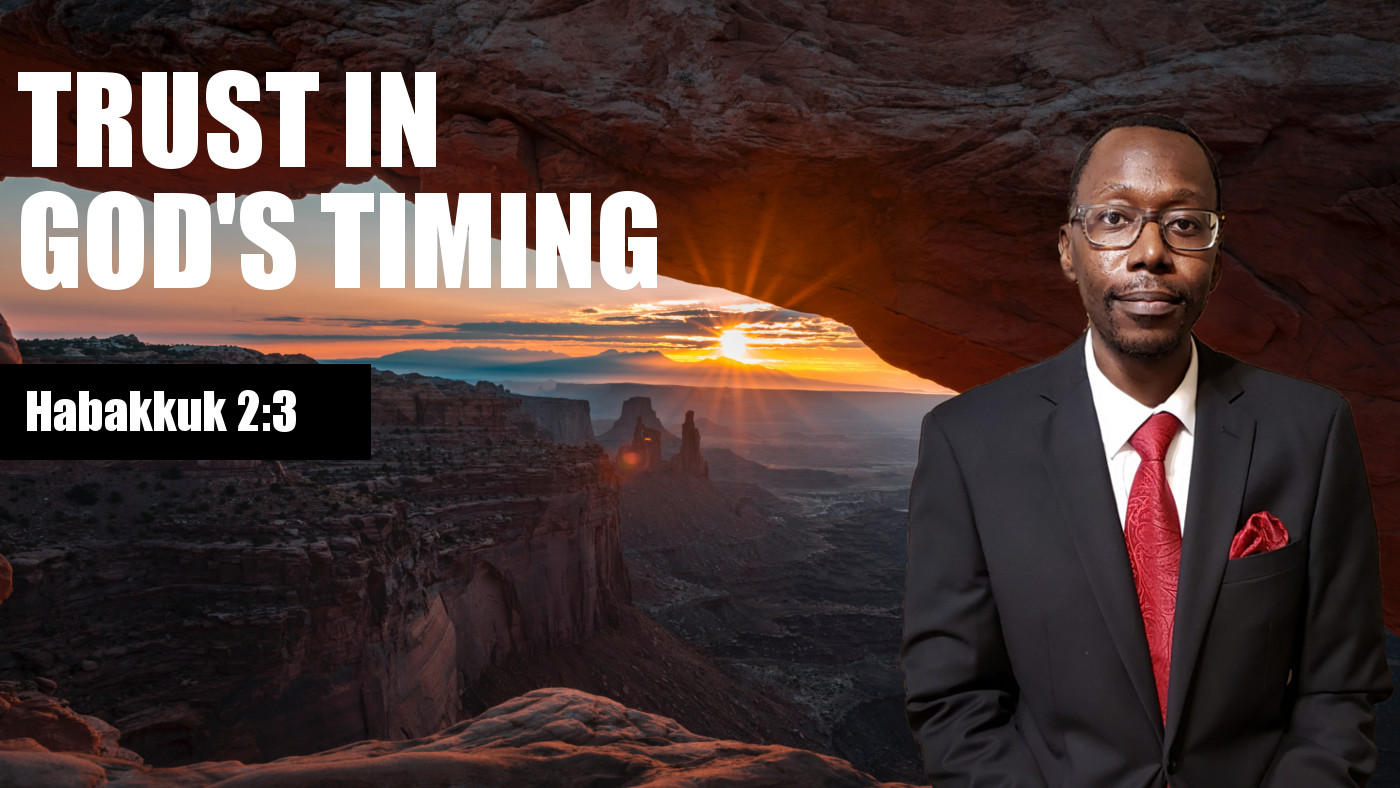 Trust In God's Timing Banner