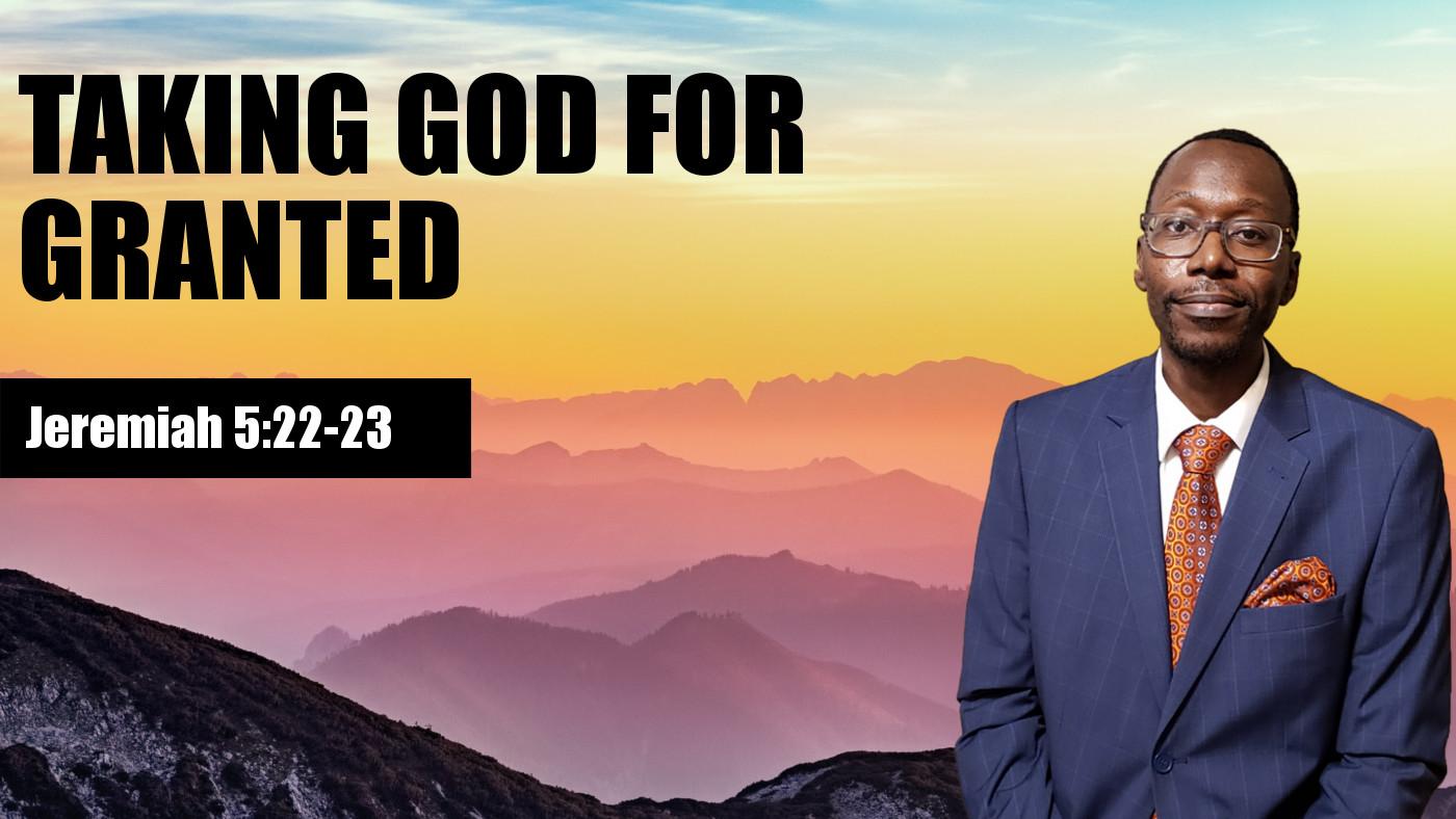 Taking God for Granted Banner